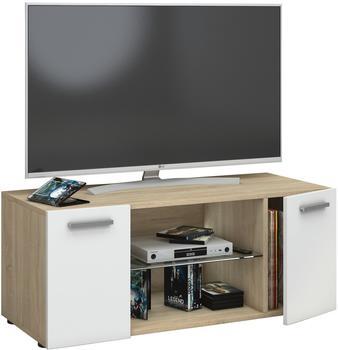 VCM TV-Lowboard Lowina 95cm Sonoma/Weiß