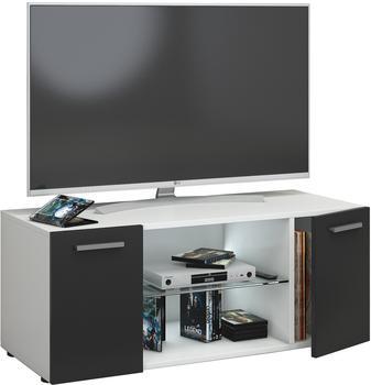 VCM TV-Lowboard Lowina 95cm Weiß/Schwarz