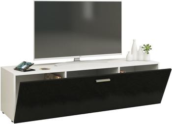 VCM TV-Lowboard Winalo 140cm Weiß/Schwarz
