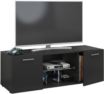 VCM TV-Lowboard Lowina 115cm Schwarz