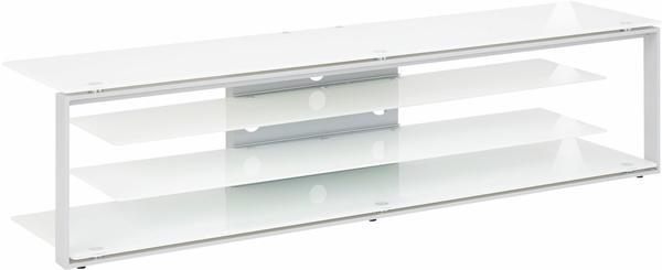 Maja JOICE 5204 TV-Rack 170cm platingrau/Weißglas