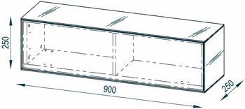 Maja Möbel Soundconcept 7783 Hängeschrank 900 mm Schwarzglas matt