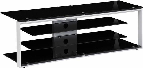 Maja JOICE 5200 TV-Rack 130cm platingrau/Schwarzglas