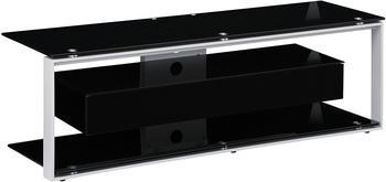 Maja JOICE 5202 TV-Rack 130cm platingrau/Schwarzglas