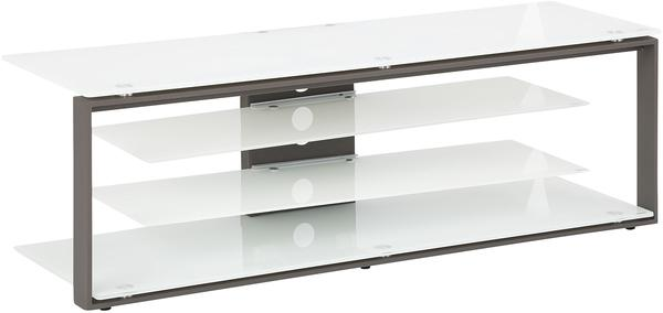 Maja JOICE 5200 TV-Rack 130cm anthrazit/Weißglas