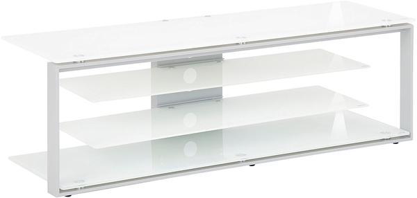 Maja JOICE 5200 TV-Rack 130cm platingrau/Weißglas
