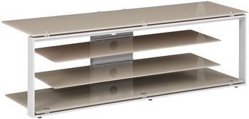 Maja JOICE 5200 TV-Rack 130cm platingrau/Glas sand