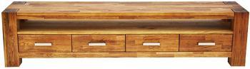 SIT Möbel Lowboard massiv Wildeiche/Wildeichefurnier geölt, natur