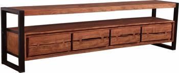 SIT Möbel Lowboard Akazie mit Metall, cognacfarbig und schwarz
