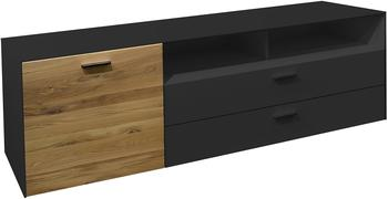 Gerd Mäusbacher TV-Lowboard 570 mm anthrazit matt/Wildeiche geölt