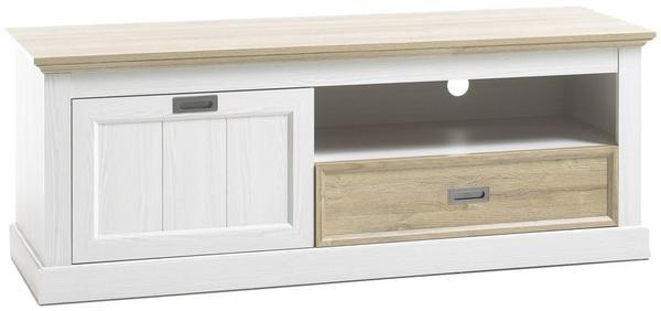 MCA Furniture TV-Lowboard 1530 mm weiß matt/Wildeiche
