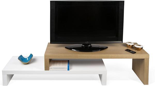 TemaHome Cliff TV-Lowboard 235 cm weiß matt/eiche