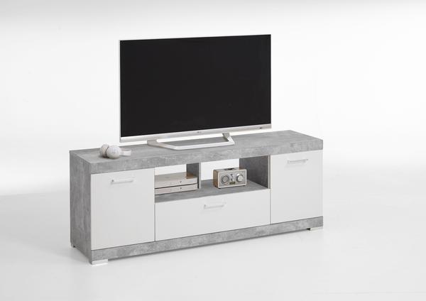 FMD Bristol TV-Lowboard 160 cm beton optik/weiß edelglanz