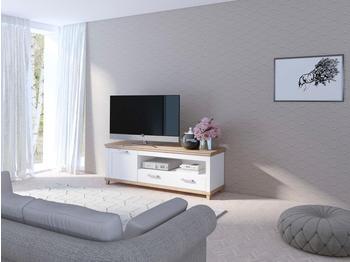 TRENDMANUFAKTUR Britta TV-Lowboard 1810 mm weiß/eichefarben Ribbeck