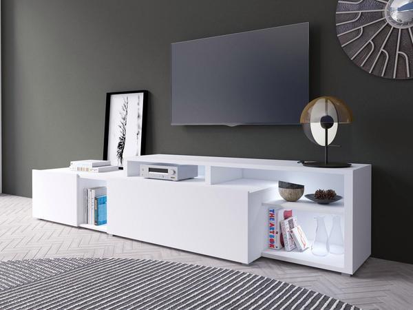 TRENDMANUFAKTUR Vento TV-Lowboard 2250 mm weiß