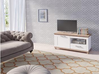 TRENDMANUFAKTUR Britta TV-Lowboard 1260 mm weiß/eichefarben Ribbeck