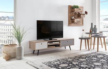 SIT Möbel Lowboard MDF mit glatter Dekorfolie, grau gemustert