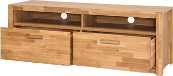 MCA Furniture TV-Unterteil Lowboard 155 cm Wildeiche teilmassiv geölt Woody 153-00255