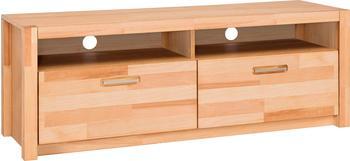 MCA Furniture TV-Unterteil HiFi TV Lowboard 155 cm Kernbuche massiv geölt Woody 153-00254