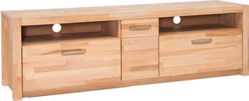MCA Furniture TV-Unterteil HiFi TV Lowboard 185 cm Kernbuche massiv geölt Woody 153-00256