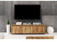 Fun Möbel Lowboard TV-Schrank MAISON Wildeiche massiv geölt 150x43x45 cm