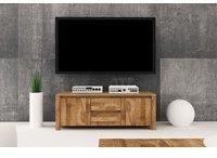 Fun Möbel Lowboard TV-Schrank MAISON Wildeiche massiv geölt 115x43x45 cm
