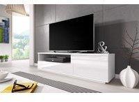 Fun Möbel Zuma TV-Lowboard 1380 mm weiß Hochglanz