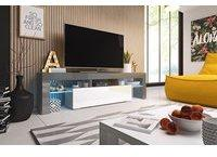 Fun Möbel Toris TV-Lowboard grau/weiß Hochglanz