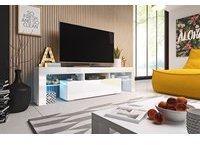 Fun Möbel Toris TV-Lowboard 1580 mm weiß Hochglanz