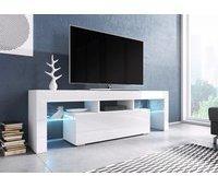Fun Möbel Toris TV-Lowboard 1380 mm weiß Hochglanz