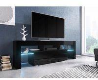 Fun Möbel Toris TV-Lowboard 1380 mm schwarz