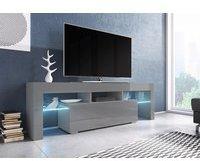 Fun Möbel Toris TV-Lowboard 1380 mm grau Hochglanz