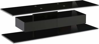 MAJA TV Rack Urban 2, Farbe:Schwarzglas