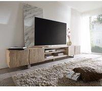 DeLife Live-Edge TV-Lowboard 300 cm 4 Türen 2 Fächer Akazie Champagner