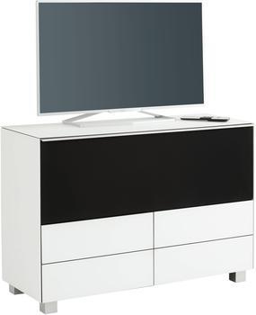 Maja Möbel 7735 Soundboard Weißglas matt/Akustikstoff schwarz