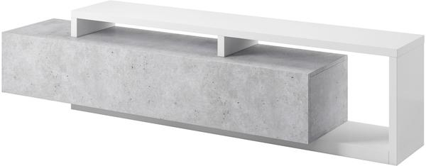 TRENDMANUFAKTUR Bota TV-Lowboard 219 cm weiß/beton colorado