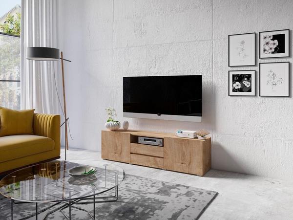 TRENDMANUFAKTUR Ester TV-Lowboard 1585 mm Eiche ribbeck/Eiche ribbeck