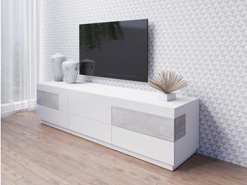 yourhome-silke-tv-lowboard-2060-mm-weiss-hochglanz-beton-optik
