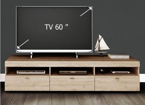 YOURHOME Loft II TV-Lowboard 182,8 cm grandson eichefarben hell