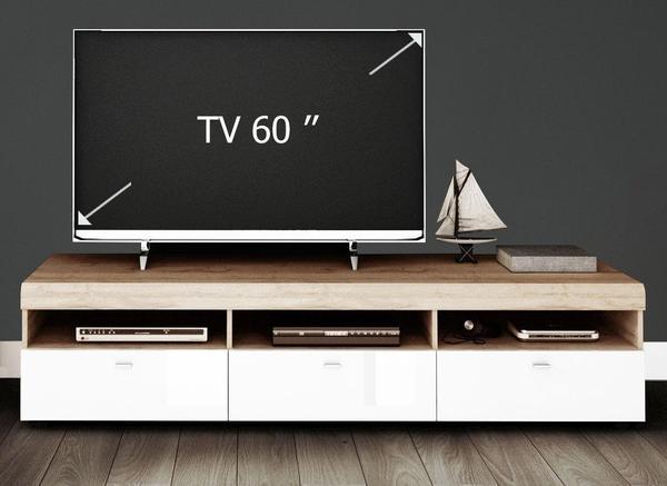YOURHOME Loft III TV-Lowboard 182,8 cm weiß