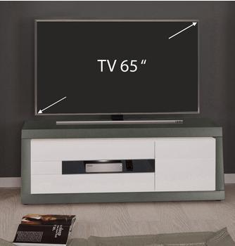 YOURHOME Magnus TV-Lowboard 1500 mm Hochglanz weiß/grau