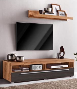 NECKERMANN TV-Lowboard 1400 mm mit Wandregal braun