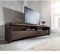 DeLife Live-Edge TV-Lowboard 190 cm 4 Schübe 2 Fächer Akazie Coffee