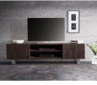 DeLife Live-Edge TV-Lowboard 2000 mm 4 Türen 2 Fächer Akazie Coffee