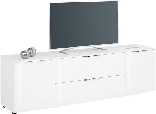 Maja Möbel 7820 TV-Lowboard weiß matt/weißglas