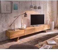 DeLife Wyatt TV-Lowboard 2200 mm 4 Schubladen Akazie Natur
