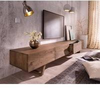 DeLife Wyatt TV-Lowboard 2200 mm 4 Schübe Akazie Braun