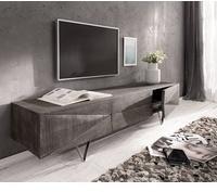 DeLife Wyatt TV-Lowboard 1750 mm 1 Klappe Akazie Platin