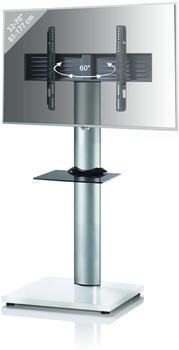 vcm-onu-mini-tv-standfuss-32-70-weiss-schwarz-mit-zusatzboden-und-rollen