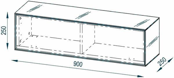 Maja Möbel Soundconcept 7783 900 mm Glas sand matt/Schwarzglas matt